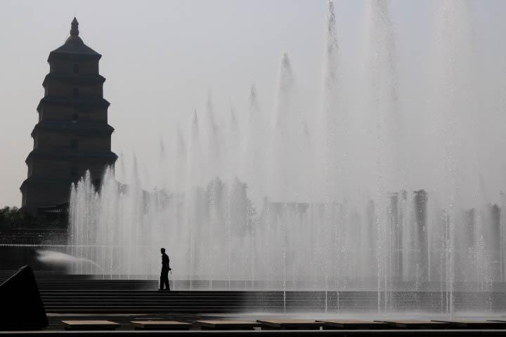 Fontaine Grande Pagode de l'Oie Sauvage Xi'An